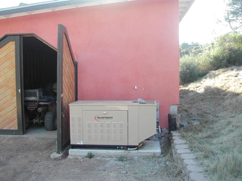 Generac Outdoor Generator Installation