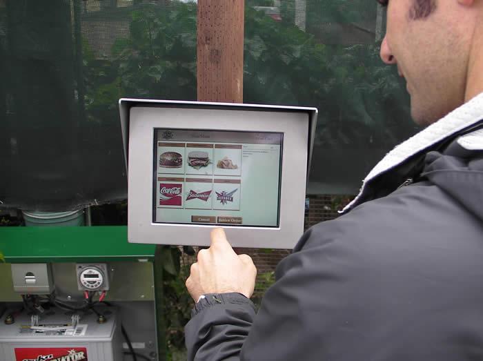 Solar Powered Golf Kiosk
