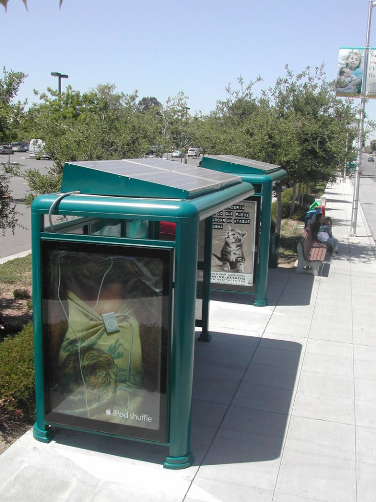 Solar Lighted Bus Stop Shelters