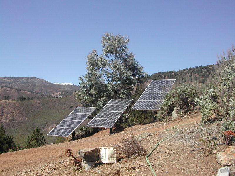 Pole Mounted Solar Array