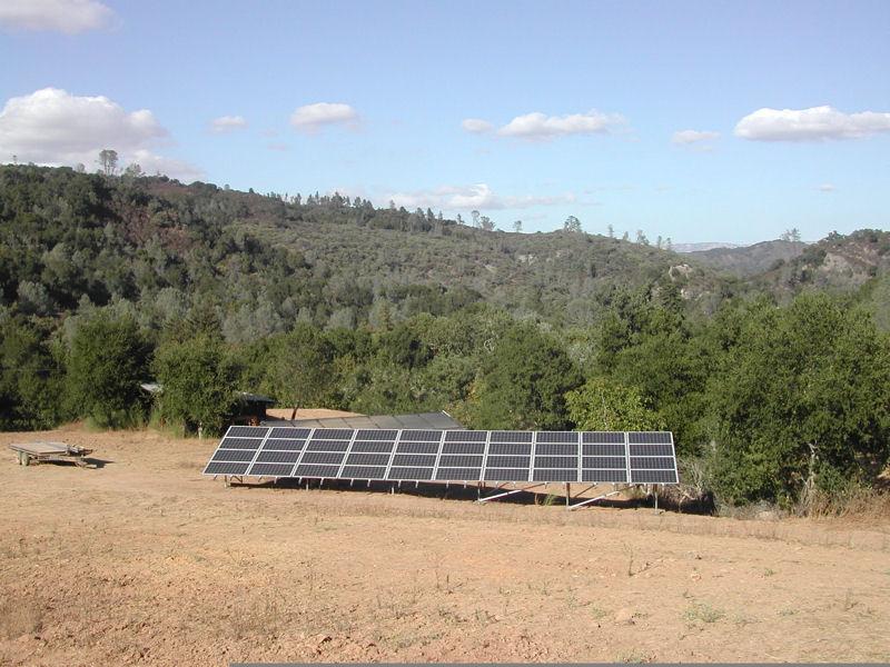 Solar Panel Ground Array