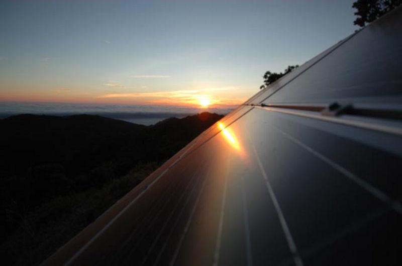 Solar Array Sunset
