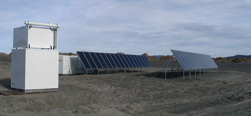 Commercial Off Grid Solar Power Installation