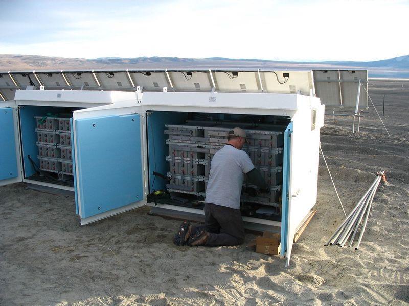 Remote Solar Battery Box
